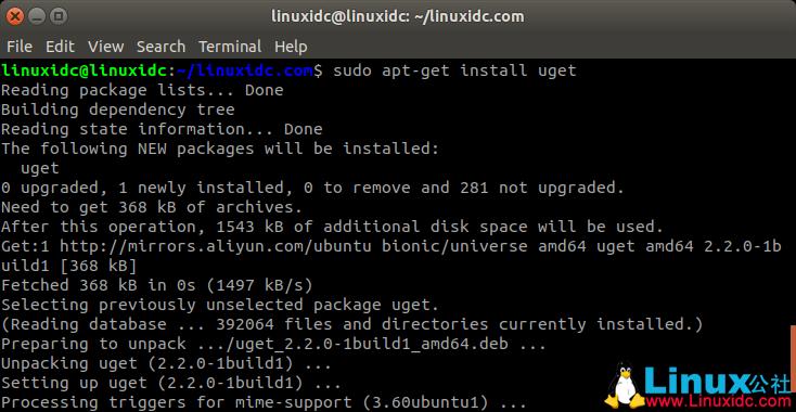 如何在Ubuntu 18.04,19.04中安装uGet 2.2.2