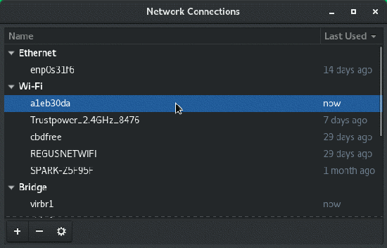 Network Manager Connection Editor