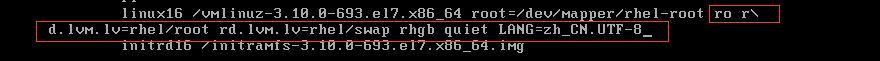 RHEL7.4忘记密码修改root密码