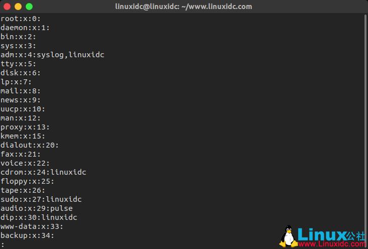 在 Linux 中查看所有的用户组