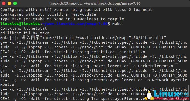 如何在Ubuntu,Fedora,Redhat,SUSE Linux上安装Nmap 7.80