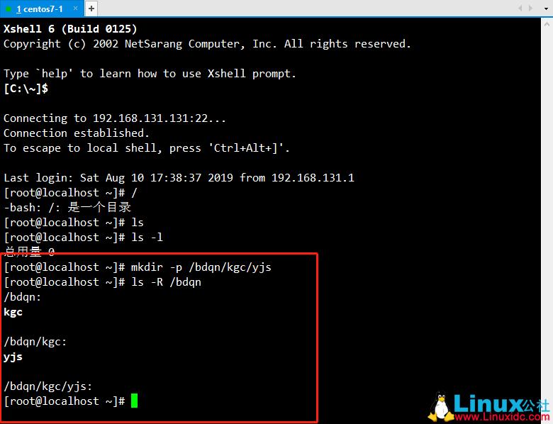 Linux目录和文件操作基础命令