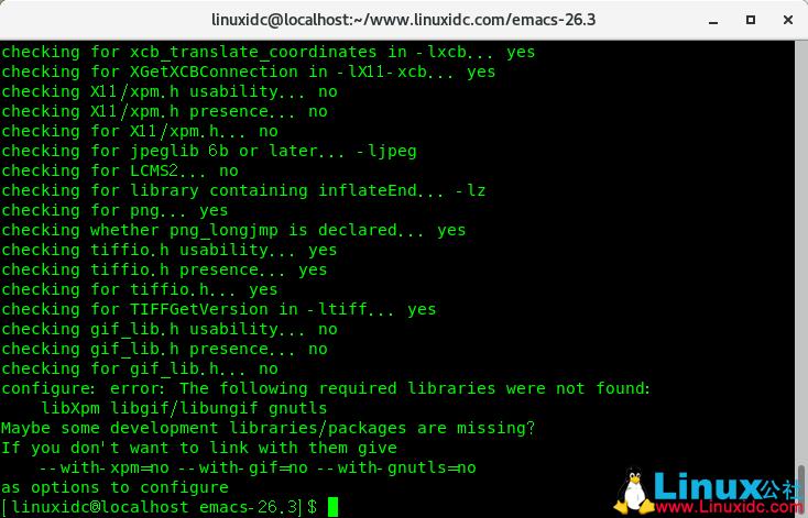 CentOS 7.6下源码安装Emacs 26.3