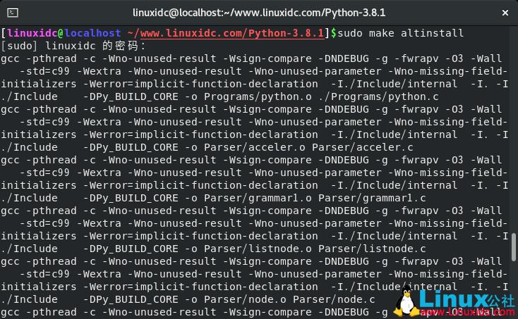 如何在CentOS 8上安装Python 3.8.1
