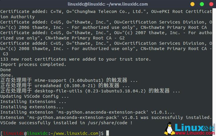 Ubuntu 18.04.4 安装 Anaconda3-5.3.1-Linux-x86_64.sh